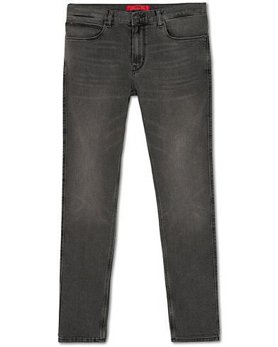 HUGO 734 Slim Fit Jeans Washed Black i gruppen Klær / Jeans / Smale jeans hos Care of Carl (15161311r)