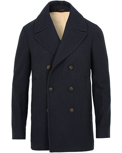 The Gigi Yuma Wool Peacoat Navy i gruppen Kläder / Jackor / Skepparkavajer hos Care of Carl (15163911r)