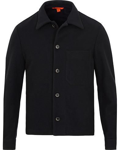 Barena Cedro Wool Shirt Jacket  Navy i gruppen Klær / Skjorter / Casual / Overshirts hos Care of Carl (15175111r)
