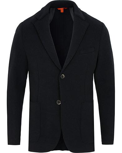 Barena Cison Double Jersey Blazer Navy i gruppen Tøj / Blazere & jakker / Enkeltradede blazere hos Care of Carl (15175211r)