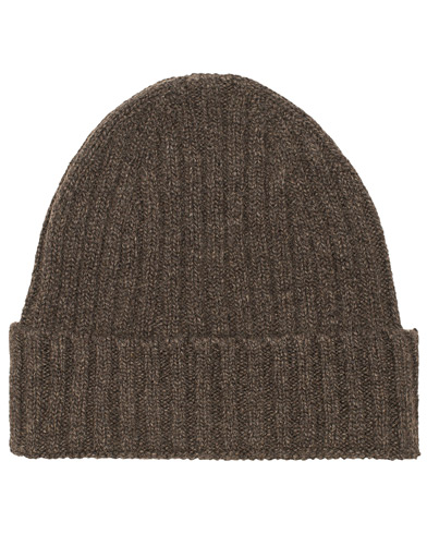 Stenströms Cashmere/Cotton Ribbed Beanie Dark Brown  i gruppen Accessoarer / Mössor hos Care of Carl (15184410)