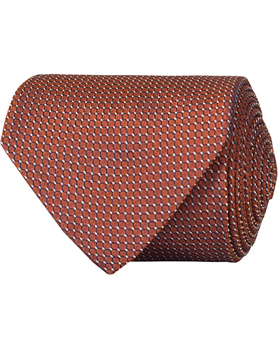Stenströms Silk Micro Spot 8 cm Tie Orange  i gruppen Assesoarer / Slips hos Care of Carl (15185510)