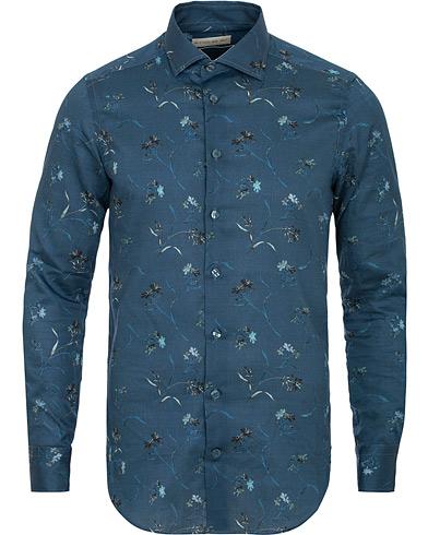 Etro Mercurio Printed Shirt Dark Blue i gruppen Kläder / Skjortor / Casual / Casual skjortor hos Care of Carl (15188611r)