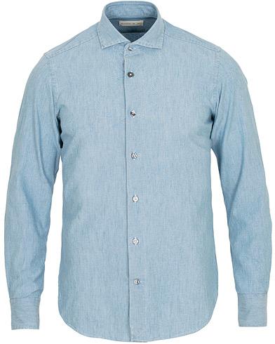 Etro Blazon Denim Shirt Grey i gruppen Kläder / Skjortor / Casual / Casual skjortor hos Care of Carl (15188811r)