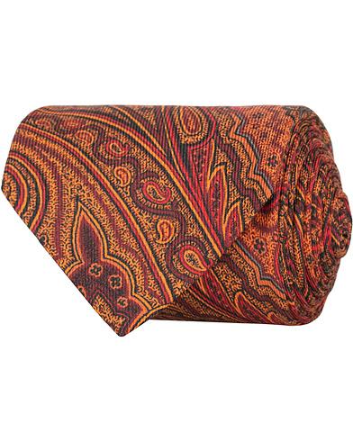 Etro Paisley 8 cm Tie Dark Orange  i gruppen Assesoarer / Slips hos Care of Carl (15190610)