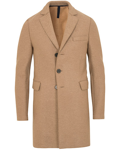 Harris Wharf London Chestercoat Wool Raw Edge Coat Camel i gruppen Klær / Jakker / Frakker hos Care of Carl (15198011r)