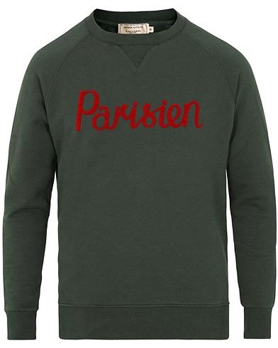 Maison Kitsuné Sweatshirt Parisien Dark Green i gruppen Tøj / Trøjer / Sweatshirts hos Care of Carl (15198711r)