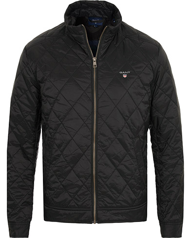 GANT The Quilted Windcheater Black i gruppen Tøj / Jakker / Quiltede jakker hos Care of Carl (15203811r)