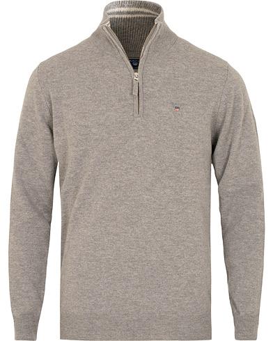 GANT Superfine Lambswool Half Zip Grey Melange i gruppen Kläder / Tröjor / Zip-tröjor hos Care of Carl (15204811r)