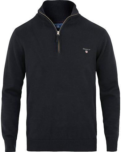 GANT Contrast Cotton Half Zip Navy i gruppen Kläder / Tröjor / Zip-tröjor hos Care of Carl (15205311r)