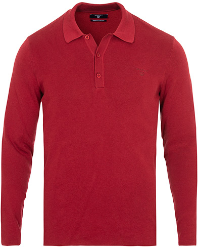 GANT American Cotton Polo Winter Wine i gruppen Klær / Gensere / Strikkede pikéer hos Care of Carl (15207011r)