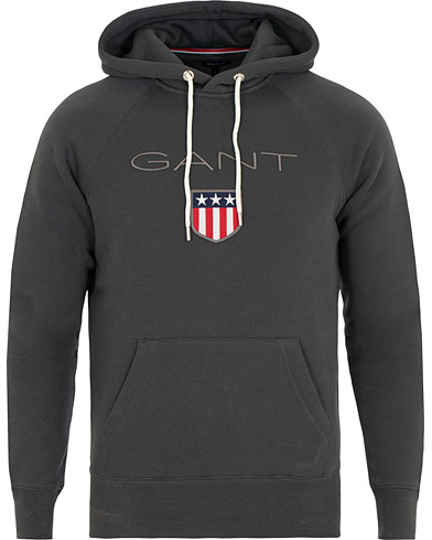 GANT Shield Hoodie Dark Grey i gruppen Klær / Gensere / Hettegensere hos Care of Carl (15209011r)