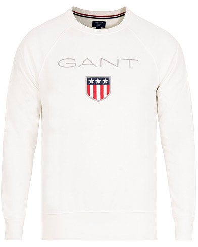 GANT Shield Crew Neck Sweatshirts Eggshell  i gruppen Kläder / Tröjor / Sweatshirts hos Care of Carl (15209311r)
