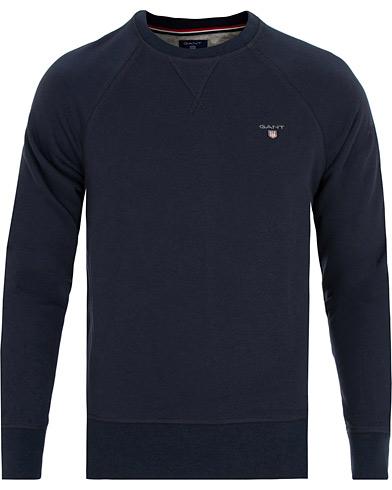 GANT The Original Crew Neck Sweatshirt Evening Blue i gruppen Kläder / Tröjor / Sweatshirts hos Care of Carl (15210011r)