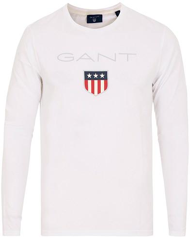 GANT Shield Long Sleeve Tee White i gruppen Kläder / T-Shirts / Långärmade t-shirts hos Care of Carl (15211811r)