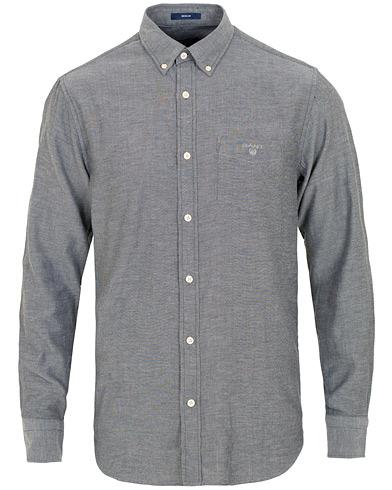 GANT Windblow Flannel Shirt Black i gruppen Kläder / Skjortor / Casual / Flanellskjortor hos Care of Carl (15213411r)