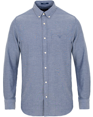 GANT Windblow Flannel Shirt Pursian Blue i gruppen Tøj / Skjorter / Casual / Flannelskjorter hos Care of Carl (15213511r)