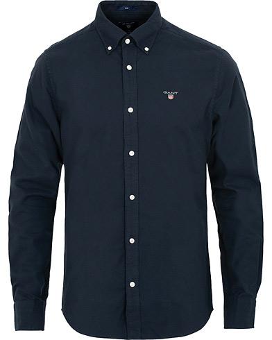 GANT Slim Fit Brushed Oxford Shirt Marine i gruppen Klær / Skjorter / Casual / Oxfordskjorter hos Care of Carl (15213811r)