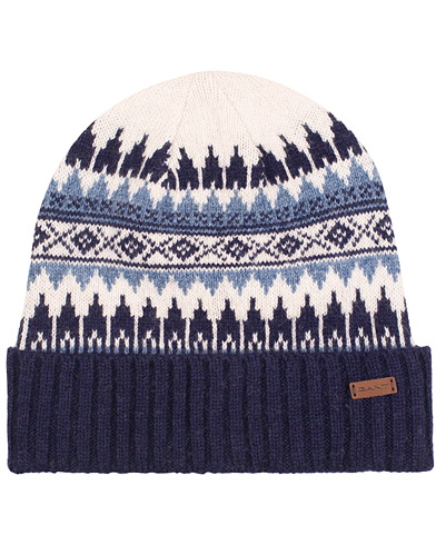 GANT Fairisle Knit Beanie Persian Blue  i gruppen Accessoarer / Mössor hos Care of Carl (15216010)