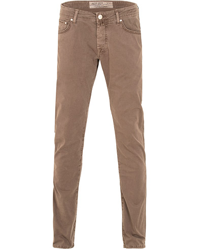 Jacob Cohën 622 Slim Fit 5-Pocket Brown i gruppen Klær / Bukser / 5-lommersbukser hos Care of Carl (15219711r)
