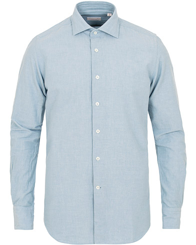 Glanshirt Ween Heavy Chambray Shirt Medium Blue i gruppen Klær / Skjorter / Casual / Casual skjorter hos Care of Carl (15237211r)