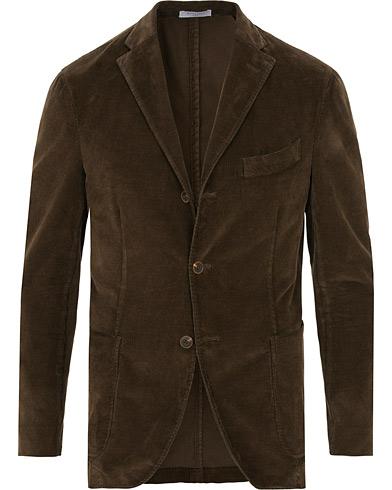 Boglioli K Jacket Classic Corduroy Blazer Dark Brown i gruppen Kläder / Kavajer / Enkelknäppta kavajer hos Care of Carl (15238511r)