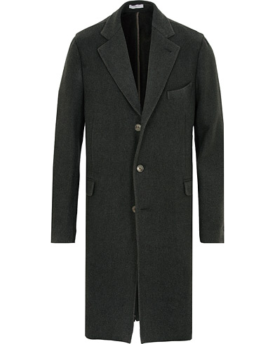 Boglioli K Jacket Garment Dyed Wool Cashmere Coat Green i gruppen Kläder / Jackor / Rockar hos Care of Carl (15238711r)