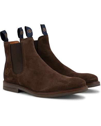 Henri Lloyd Graham Boot Suede Dark Brown Suede i gruppen Sko / Støvler / Chelsea boots hos Care of Carl (15243311r)