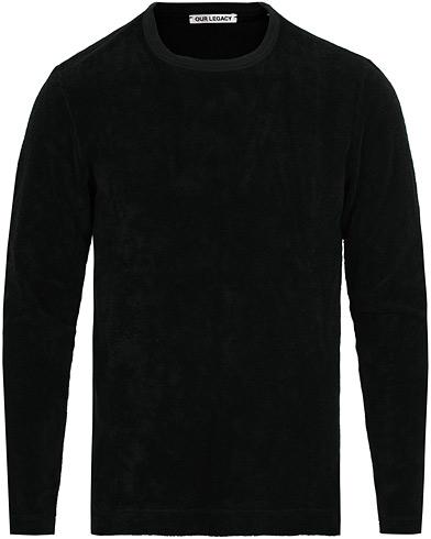 Our Legacy Long Sleeve Terry Sweat Black i gruppen Kläder / Tröjor / Sweatshirts hos Care of Carl (15243811r)