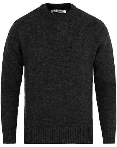 Our Legacy Base Rounded Tweed Sweater Black i gruppen Tøj / Trøjer / Strikkede trøjer hos Care of Carl (15243911r)