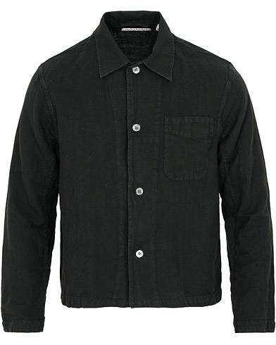 Our Legacy Shrunken Wrinkle Madras Shirt Black i gruppen Tøj / Skjorter / Casual / Casual skjorter hos Care of Carl (15244111r)