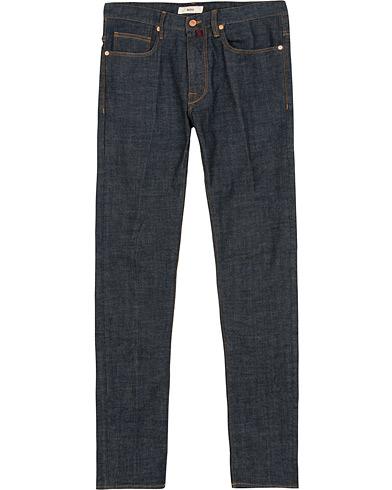 Incotex Sky Slim Fit Denim  Dark Blue i gruppen Klær / Jeans / Smale jeans hos Care of Carl (15247011r)