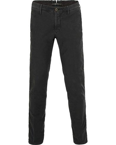 Incotex Slim Fit Garment Dyed Washed Slacks Dark Grey i gruppen Klær / Bukser / Chinos hos Care of Carl (15247811r)