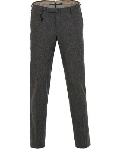 Incotex Super 100's Flannel Trousers Charcoal i gruppen Kläder / Byxor / Flanellbyxor hos Care of Carl (15248711r)