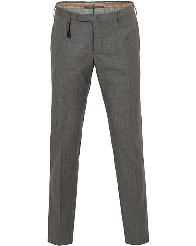 Incotex Slim Fit Sharkskin Wool Trousers Charcoal i gruppen Klær / Bukser / Dressbukser hos Care of Carl (15249311r)