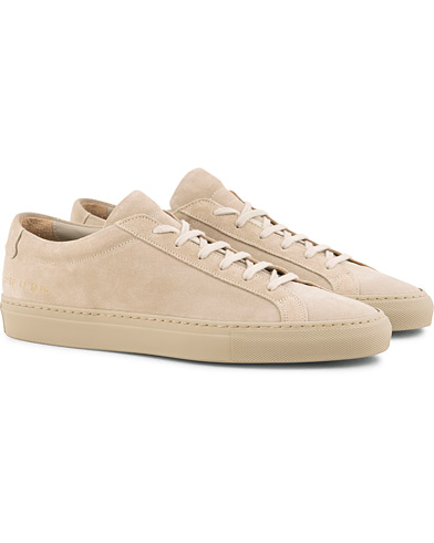 Common Projects Original Achilles Leather Sneakers Taupe Suede i gruppen Skor / Sneakers / Låga sneakers hos Care of Carl (15251911r)