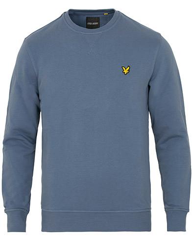 Lyle & Scott Crew Neck Sweatshirt Indigo Blue i gruppen Kläder / Tröjor / Sweatshirts hos Care of Carl (15257711r)