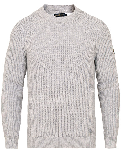 Henri Lloyd Narbeth Wool/Cotton Regular Crew Neck Knit Grey Marl i gruppen Klær / Gensere / Strikkede gensere hos Care of Carl (15263711r)
