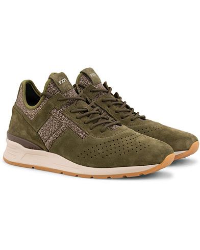 Tod's Allaciato High Top Sneaker Moss Green Suede i gruppen Sko / Sneakers / Sneakers med høyt skaft hos Care of Carl (15265711r)