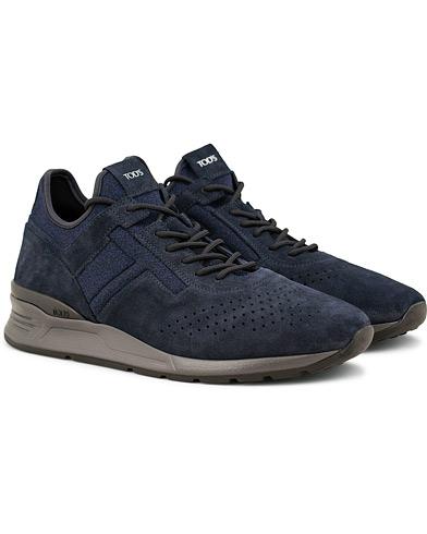 Tod's Allaciato High Top Sneaker Royal Blue Suede i gruppen Skor / Sneakers / Låga sneakers hos Care of Carl (15265811r)