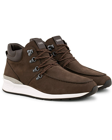 Tod's Sportivo Hiking Boot Dark Brown Nubuck i gruppen Sko / Sneakers / Sneakers med høyt skaft hos Care of Carl (15265911r)