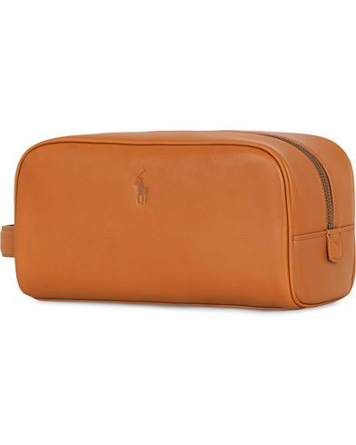 Polo Ralph Lauren Leather Washbag Tan  i gruppen Tilbehør / Tasker / Toilettasker hos Care of Carl (15267610)