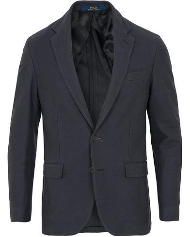 Polo Ralph Lauren Knit Mesh Blazer Navy i gruppen Klær / Dressjakker / Enkeltspente dressjakker hos Care of Carl (15268911r)