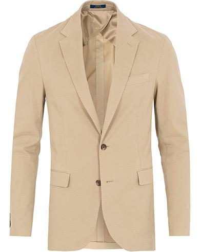 Polo Ralph Lauren Morgan Garment Dyed Cotton Blazer Light Stone i gruppen Klær / Dressjakker / Enkeltspente dressjakker hos Care of Carl (15269011r)