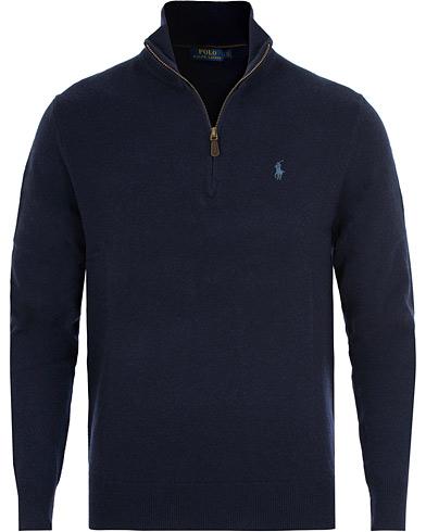 Polo Ralph Lauren Merino Half Zip Hunter Navy i gruppen Kläder / Tröjor / Zip-tröjor hos Care of Carl (15269811r)