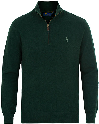 Polo Ralph Lauren Merino Half Zip College Green i gruppen Klær / Gensere / Zip-gensere hos Care of Carl (15269911r)