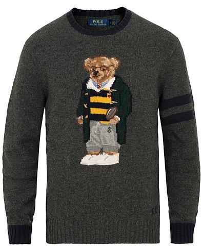 Polo Ralph Lauren Wool Knitted Bear Crew Neck Grey Heather i gruppen Klær / Gensere / Strikkede gensere hos Care of Carl (15271311r)