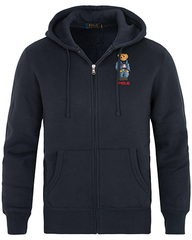 Polo Ralph Lauren Bear Full Zip Hoodie Aviator Navy i gruppen Kläder / Tröjor / Huvtröjor hos Care of Carl (15277111r)