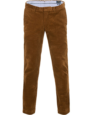 Polo Ralph Lauren Hudson Slim Fit Corduroy Trousers Brown i gruppen Tøj / Bukser / Fløjlsbukser hos Care of Carl (15280411r)