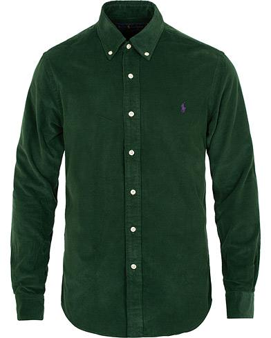 Polo Ralph Lauren Slim Fit Corduroy Shirt College Green i gruppen Tøj / Skjorter / Casual / Casual skjorter hos Care of Carl (15283211r)